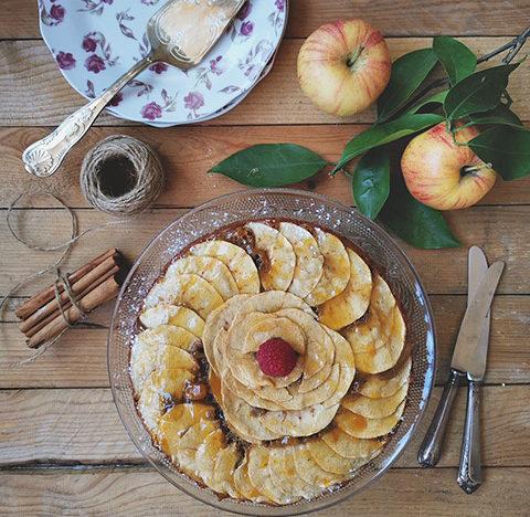 tarta vegana de manzana