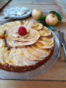 receta tarta de manzana vegana