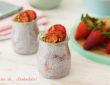 Flan de chía con fresas